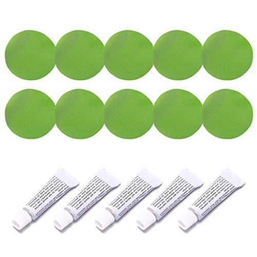 guangzhou 5 Set Schlauchbootreparaturset PVC-Material Klebepatches für Wasserbett Sofa Teile und Zubehör Grün