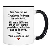 wildwindapparel Dear Son-In-Law.Love, Your Mother-In-Law - Mug - Son-In-Law Gift - Son-In-Law Mug