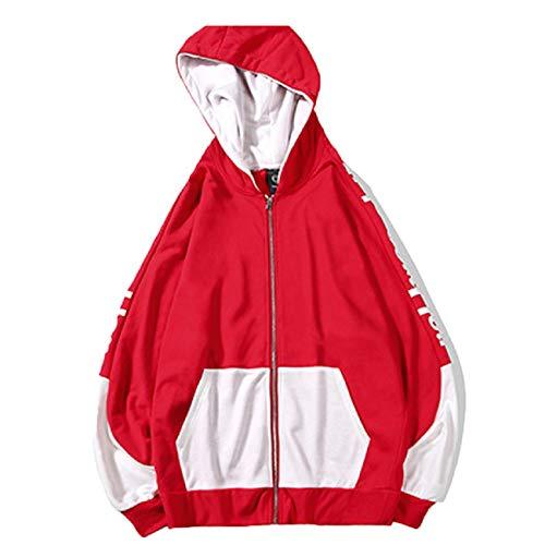 Best Bargain FAPIZI Men's Pullover Hooded Hipster Hip Hop Basic Lightweight Loose Fit Zipup Hoodie J...