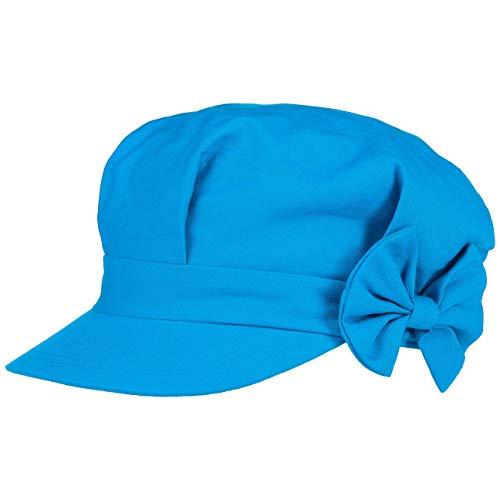 Seeberger Edna Damen Newsboy Cap mit Schleife (One Size - blau)