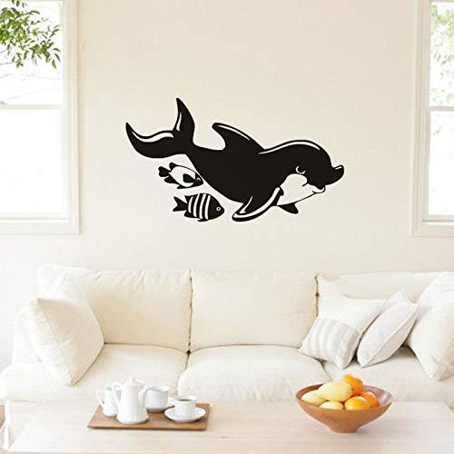 Geiqianjiumai Leuke cartoon mariene dierlijke muur stickers kinderkamer mariene vis muur kunst kaart kwekerij decoratie muur stickers