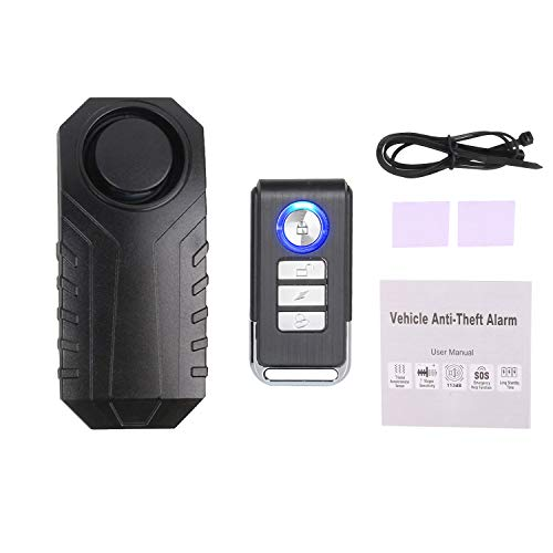 Mengshen Upgraded Anti Theft Bicycle Alarm with Remote, 113db Loud Waterproof Burglar Alarm with Volume and Sensitivity Adjustment for Bike, Motorcycle, Scooter, Car, Trailer