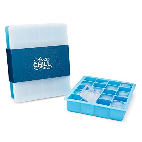 Arctic Chill Eiswürfelform – 2er Pack – 4 cm Würfel um Ihre Getränke stundenlang zu kühlen – 10 Jahre Garantie