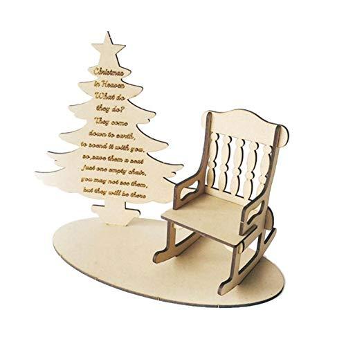 Lankater Weihnachten DIY Holzverzierungen, Schaukelstuhl Weihnachtsbaum Gedichte Im Himmel, Denkmal Geschenk