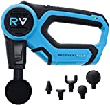 RecoveryVolt Massage Gun Handheld Deep Tissue Professional Massager | Quiet | 5 hr Battery | 55 lb Stall Force | 5 Attachments | Advanced Percussion Therapy Precision Muscle Relief | Back Massager |