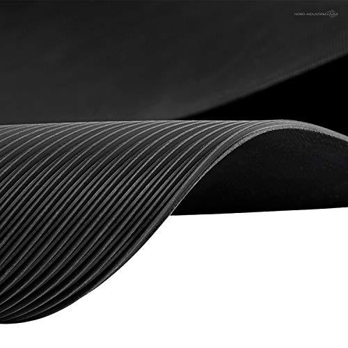 Feinriefenmatte | 2m² 1,4 x 1,43m [Größe + Farbe wählbar] Stärke: 3mm | Farbe: Schwarz