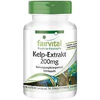 Kelp 200mg - Extracto vegano de Alga Kelp - 300µg de yodo natural - 120 Cápsulas