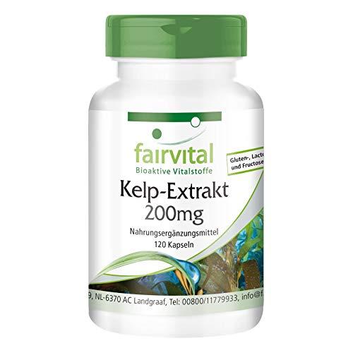 Kelp 200mg - Extracto VEGANO de Alga Kelp - 300µg de yodo...