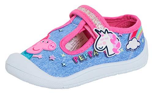 Peppa Pig Zapatos de lona para niñas para niños, fáciles de sujetar, color, talla 20 EU