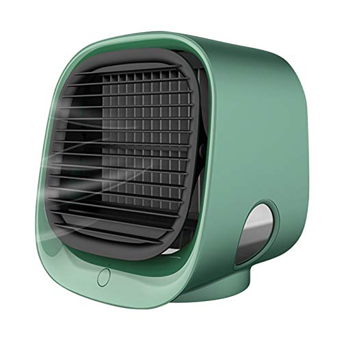 Lsdnlx Ventilador,Mini Ventilador de Escritorio USB, Ventilador Enfriador de Aire portátil, Aire Acondicionado, luz de Escritorio, Ventilador de refrigeración por Aire, humidificador, purificador