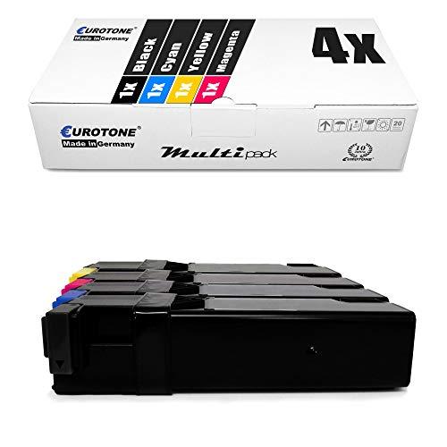 4X Eurotone Toner für Xerox Workcentre 6505 DN N ersetzt Schwarz Blau Rot Gelb