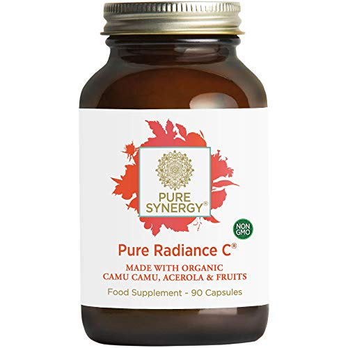 Pure Synergy Pure Radiance C | 90 Capsules | Made with Organic Ingredients | Non-GMO | Vegan | 100% Natural Vitamin C with Organic Camu Camu Extract