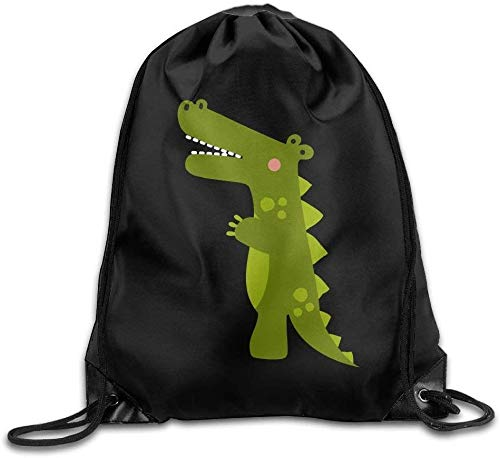 engzhoushi Sacs à Cordon,Sac de Rangement Imperméable Portable Drawstring Bags Casual Daypacks Multipurpose Daypacks - Happy Dinosaur
