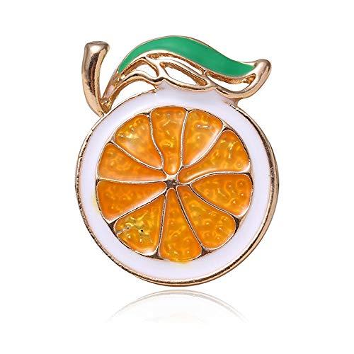 LOSAYM Women's Brooches & Pins Lemon Brooch Alloy Fruit Brooch