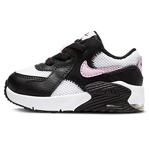 Nike Air Max Excee Td Sneaker Mädchen Schwarz/Weiß/Pink Low Top Sneaker Schuhe, - Schwarz, Weiß, Pink - Größe: 36 EU