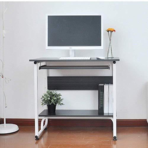 FTFTO Productos para el hogar Mesa de Escritorio Escritorio para computadora de Escritorio para el hogar Escritorio de una máquina Escritorio de 600 * 260 mm Escritorios (Color: B)