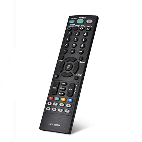 Controle remoto ABS, controle remoto inteligente, pequeno, durável, fácil de segurar para LG LCD TV mais distância de transmissão LG AKB73655806