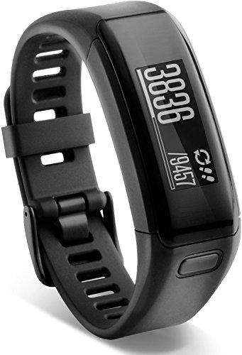 Garmin VivoSmart actividad Tracker con base de notificación inteligente y la muñeca Monitor de frecuencia cardiaca, 0.44, color negro (Reacondicionado)