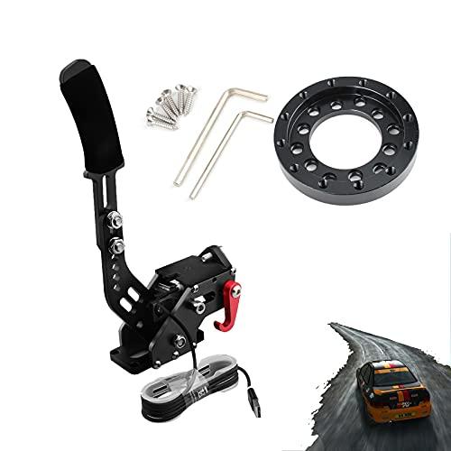 Steering Wheel Adapter for Logitech G25 G27 G920 USB Handbrake with Clamp for G25 G27 G29 PC Sim Racing Games