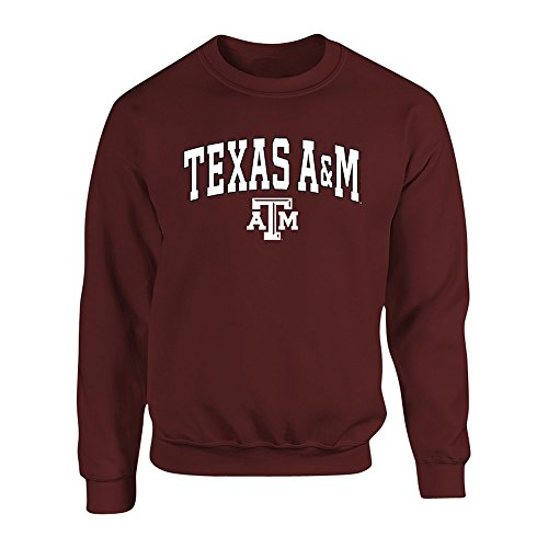 Elite Fan Shop Texas A&M Aggies Crewneck Sweatshirt Varsity Maroon - XX-Large
