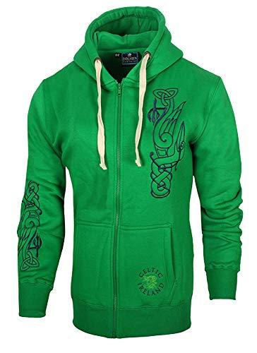 Malham Ladies Hoodie Celtic Ireland (X-Large 14-16, Kelly)