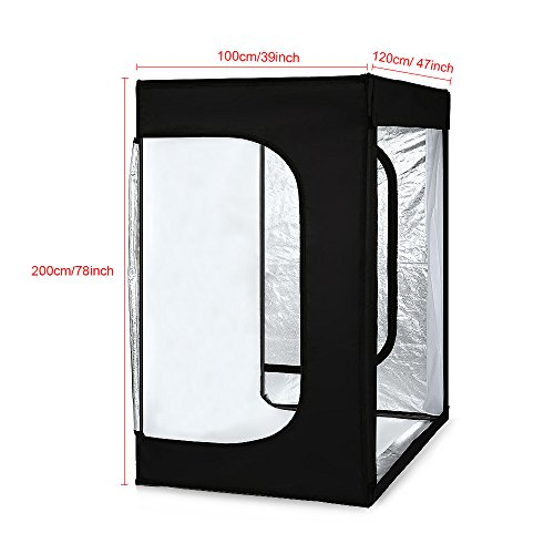 Professional Photography Studio Dimmable LED Large Shooting Tent Cube 47x39x78 inch Photo Video Continuous Lighting Shoot Tents Soft Box with 3 Colors PVC Backdrops and Carrying Bag