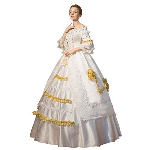 Corte de alta gama rococó barroco Marie Antonieta Vestidos de baile del siglo XVIII renacentista del período histórico vestido para las mujeres - - Hecho a la medida: Díganos sus medidas