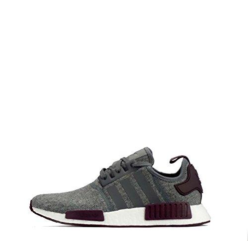 adidas  CQ0761, Herren Sneaker Grey Five/White/Maroon 40.5 EU, Grau - grau - Größe: 42 2/3 EU