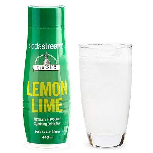 SodaStream Siroop Classic Lemon Lime - 440 ml - Het Ultieme Verfrissende Drankje Met Citroen En Limoen - Goed voor 7 - 9 Liter Bruisende Frisdrank - Speciaal Voor Bruiswatertoestellen - Duurzaam
