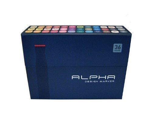 Alpha EF 36 Grafikmarker 36er Set Box Design Marker