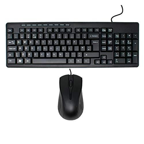 USB-toetsenbord met snoer en muis combinatieset / ergonomisch ontwerp / UK QWERTY-indeling / iCHOOSE