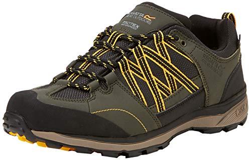 Regatta Chaussures Techniques de Marche Basses Samaris II, Walking Shoe Homme, Dark Khaki/Gold, 41 EU