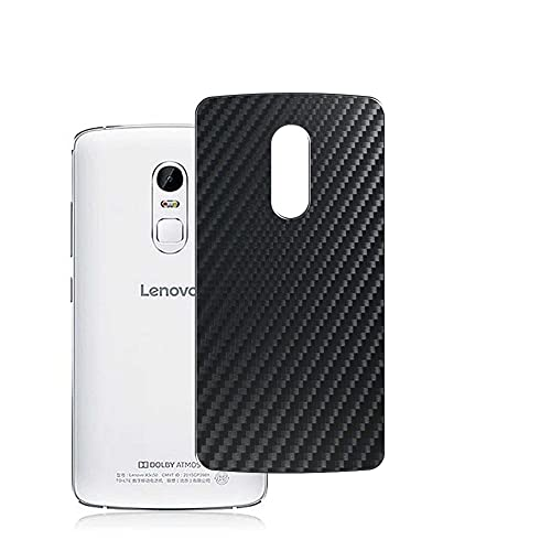 Vaxson 2-Pack Back Protector Film, compatible with Lenovo Vibe X3 c78, Black Carbon Fiber Guard Cover Skin [Not Tempered Glass/Not Front Screen Protectors]