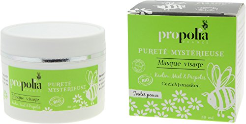 Masque Visage Bio - Propolia - Purete Mysterieuse - Kaolin - Miel - Propolis - 50ml - Made in France