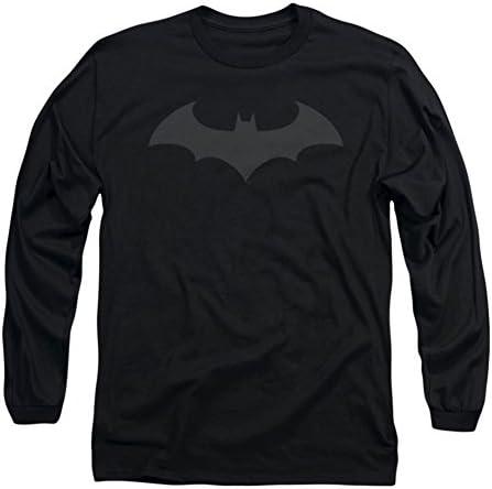 Batman Hombre Hush Logo Manga Larga En Color Negro