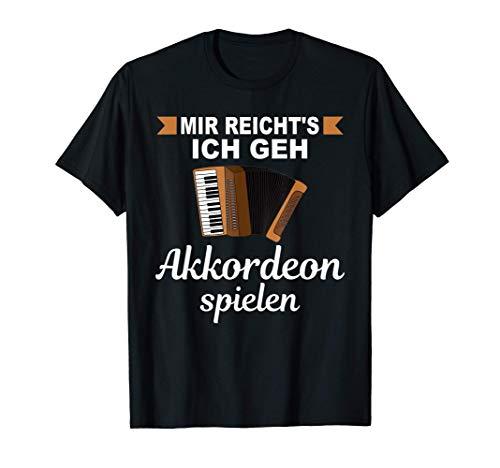 Akkordeonspieler Akkordeonist Handharmonika Musik Akkordeon T-Shirt
