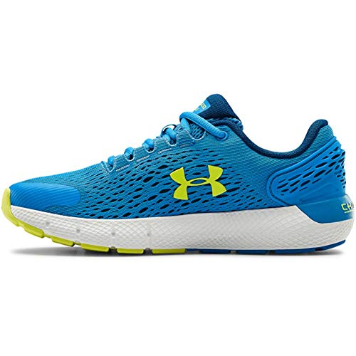 Under Armour Unisex Kids Grade School Charged Rogue 2 Road Running Shoe Electric BlueGraphite BlueYellow Ray 402 6