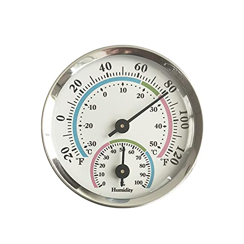 JeoPoom Termoigrometro Termometro Igrometro Analogico con Igrometro per Interni ed Esterni, Misuratore di Temperatura e Umidità