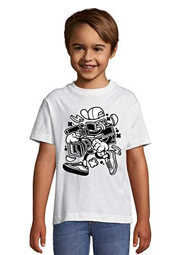 Iprints Cartoon Styled videocamera Urban Filming T-shirt kinderen