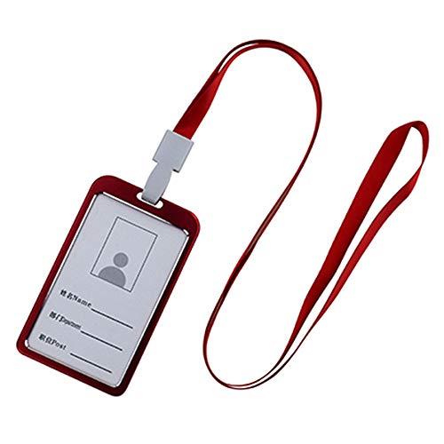 Festnight Funda de Tarjeta de Identificación Nombre Tag Holder Transparentes Piezas Verticales Etiquetas Nombres Insignia ID Titular Tarjeta Vertical Etiqueta Aleación Aluminio ID Card Holders
