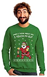 naughty ugly Christmas sweater ideas Santa Elf