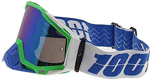 Multifunctionele motorbril, gekleurde lens UV-bescherming Stofdichte winddichte halve helm voor kinderen Heren en dames Rijbril Sport Outdoor Off-road Motorcross ATV-fietszonnebril