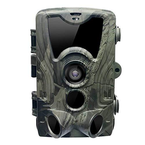 Wildlife Trail Kamera, Hunting Trail Kamera IP65 Wasserdicht, 0,3 s Auslösezeit 940 nm Wildkamera 1080P HD Kamera, 120 Grad Winkel Wildkamera