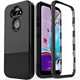 AMENQ for LG K31 Rebel Phone Case, LG Aristo 5/Tribute Monarch/Fortune 3/Phoenix 5/K8X/Risio 4 Case, Heavy Duty Shockproof TPU Bumper and PC Armor Hard Protective Phone Cover (Black)