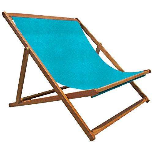 Charles Bentley Double Deck Chair avec 3 Positions Inclinables Fsc Eucalyptus Bois - Huile Compacte Recouverte