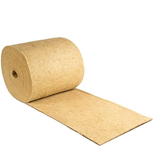 Nagerteppich aus 100% Hanf auf Rolle mit 25m Länge, 40cm Breite, 5mm dick, Hanfteppich für alle Arten Kleintiere, Hanfmatte Nagermatte Nager-Teppich Einstreu-Ersatz