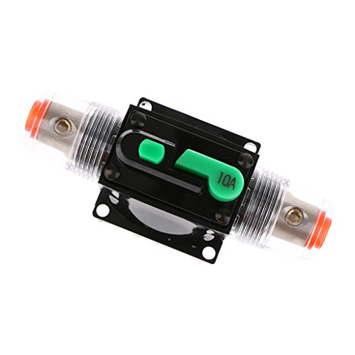 MagiDeal Disjoncteur Fusible Audio Stéréo 12V 24V 32V pour Voiture - 10A