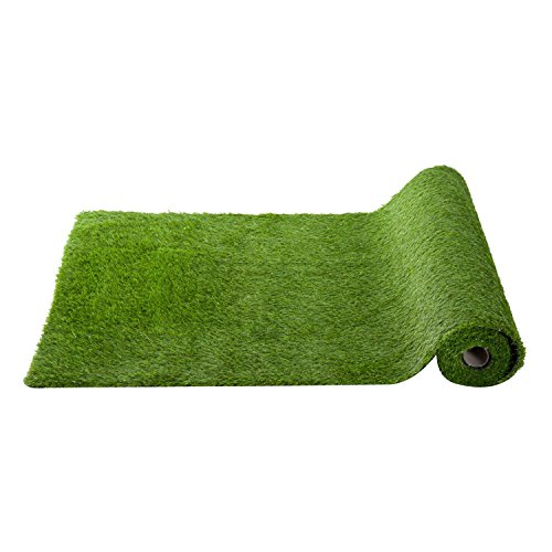 Outsunny 3' x 10' Outdoor Artificial Grass Turf Carpet with Drain Hole and Rubber Backing