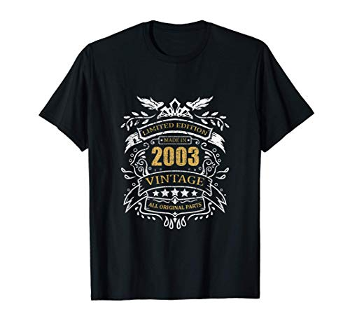 Limited Edition 18th Birthday Gift Idea Vintage 2003 T-Shirt