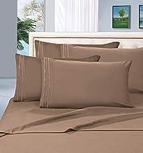 Elegant Comfort Juego de sábanas de 1500 Hilos de Calidad egipcia con Bolsillos Profundos, Completo, Color Gris Pardo